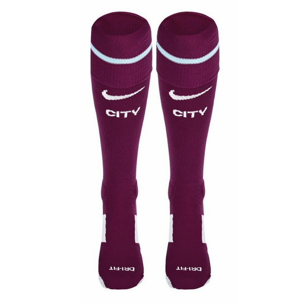 Calcetines 2ª Kit Niños Manchester City 2017 2018 Purpura